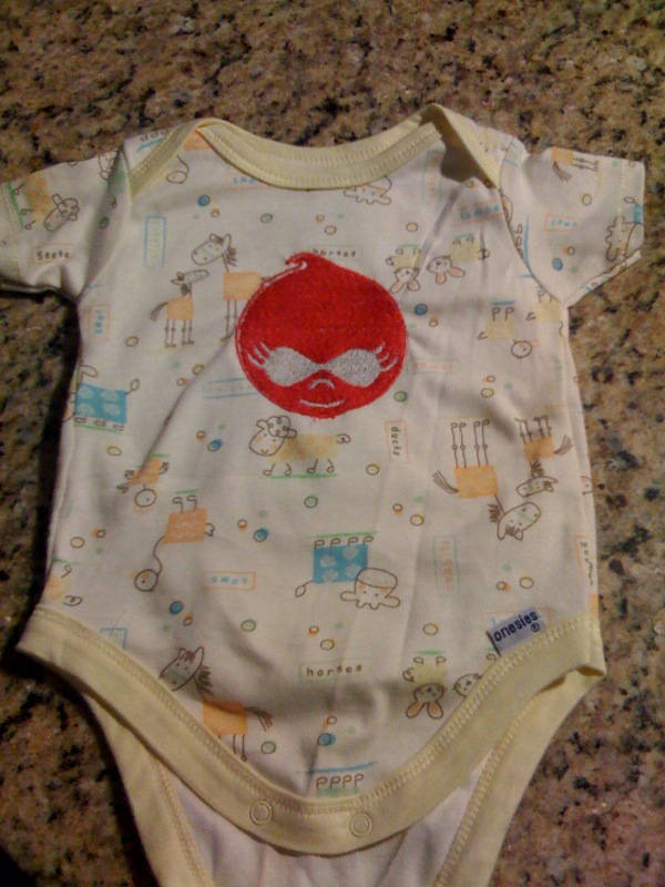 Embroidered Drupalchix onesie